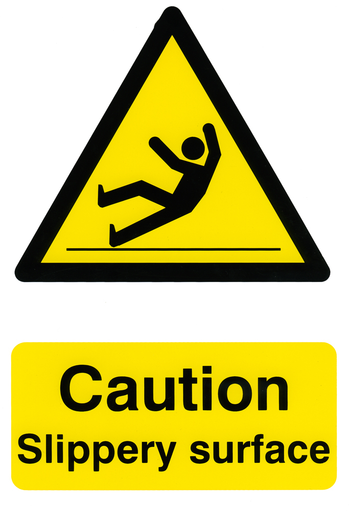 CAUTION SLIPPERY SURFACE SIGN - BSS1108