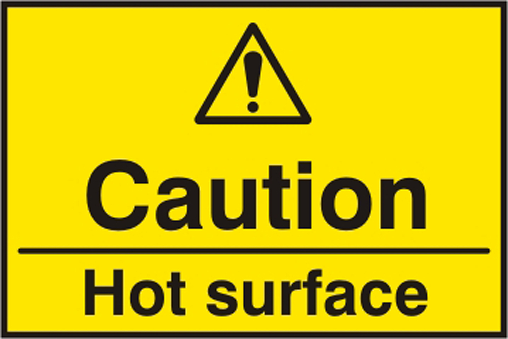 CAUTION HOT SURFACE SIGN - BSS11163