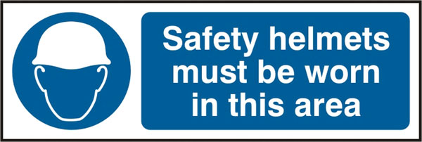 SAFETY HELMETS MUST BE WORN SIGN - BSS11408