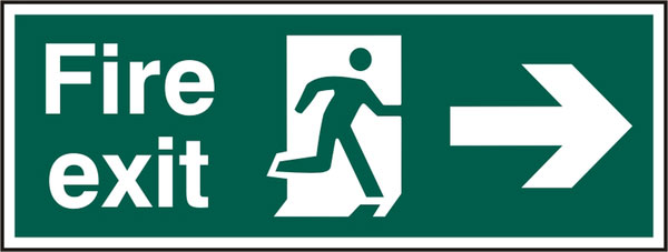 FIRE EXIT SIGN - BSS12001