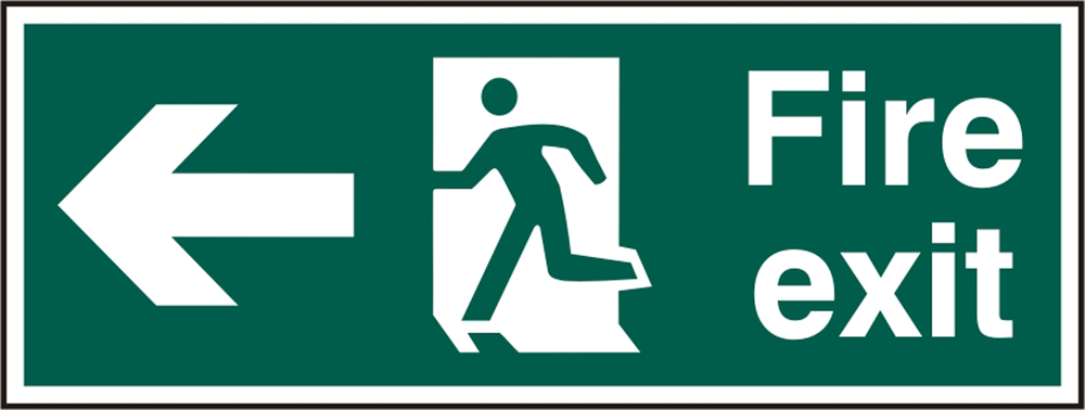 FIRE EXIT SIGN - BSS12093