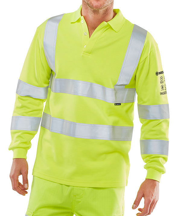ARC FLASH HI VIZ POLO SHIRT - CARC2HVSY