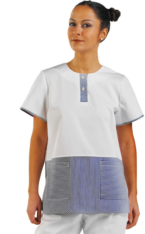 LADIES TUNIC BLUE STRIP - CCLTBS