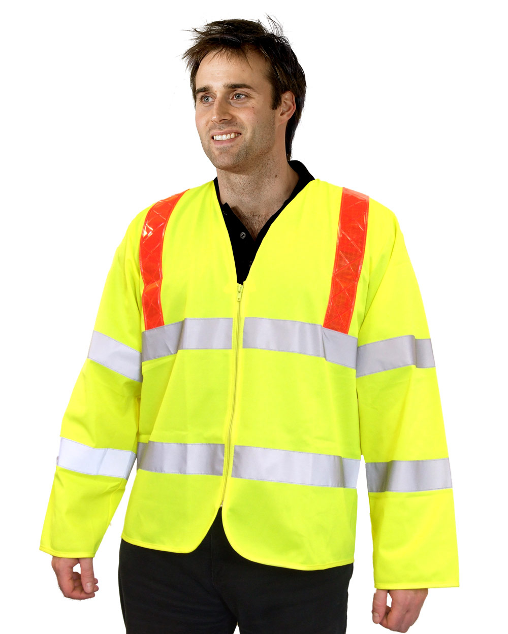 HI VIZ LONG SLEEVED JERKIN - PKJENG(RT)