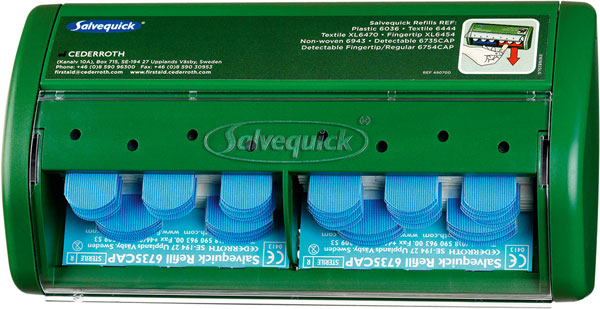 SALVEQUICK PLASTER DISPENSER 70 DETECTABLE BLUE - CM0541