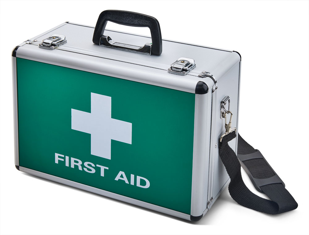 LARGE ALUMINIUM FIRST AID CASE - CM1016