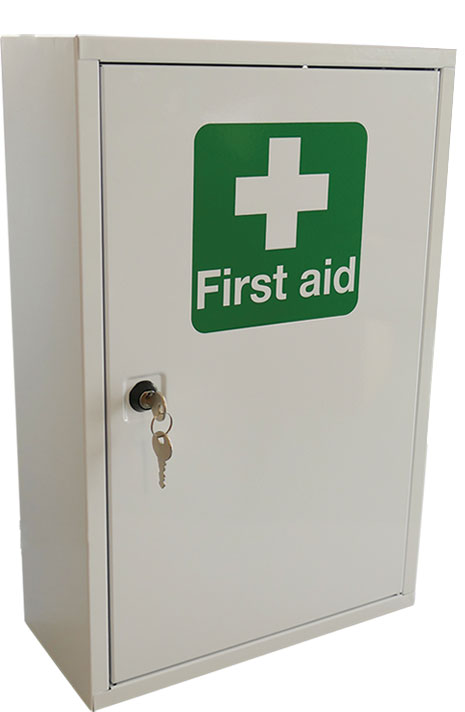 SINGLE DOOR METAL FIRST AID CABINET - CM1120