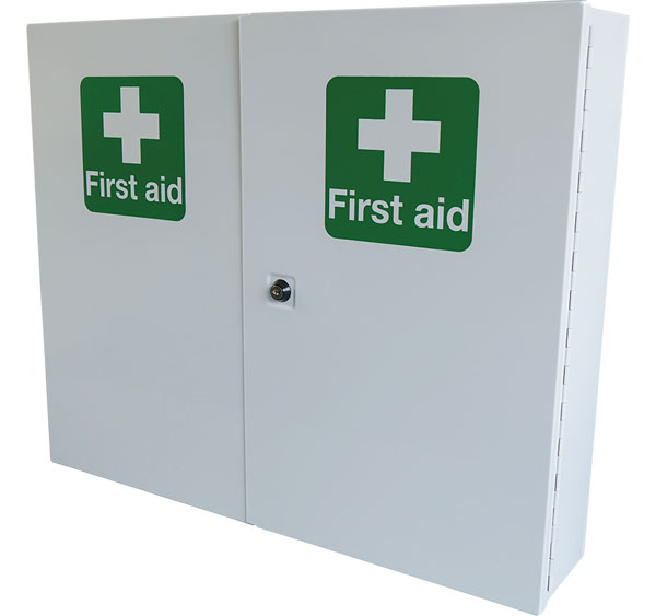 DOUBLE DOOR METAL FIRST AID CABINET - CM1121