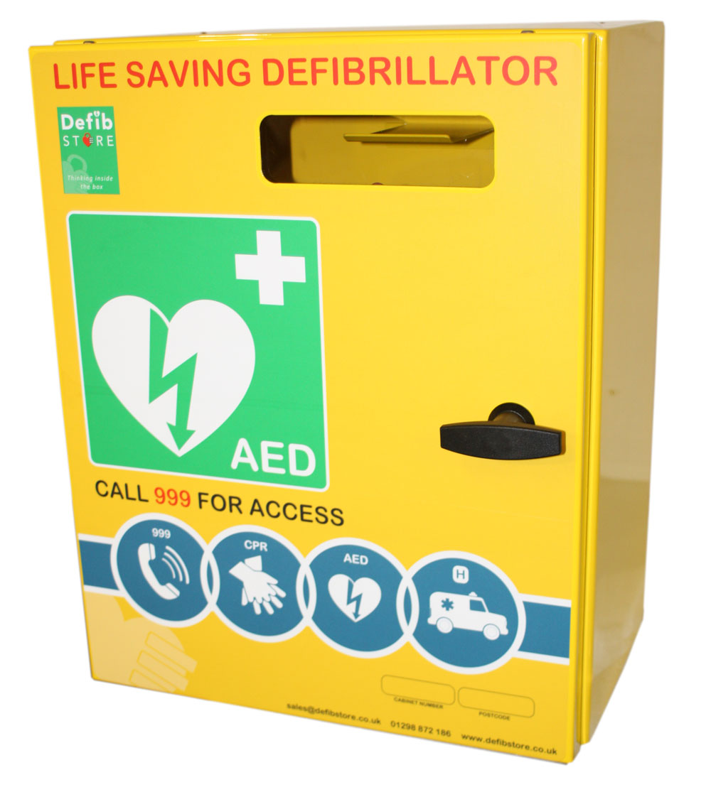 DEFIBRILLATOR MILD STEEL LARGE CABINET NO LOCK & ELECTRICS - CM1214