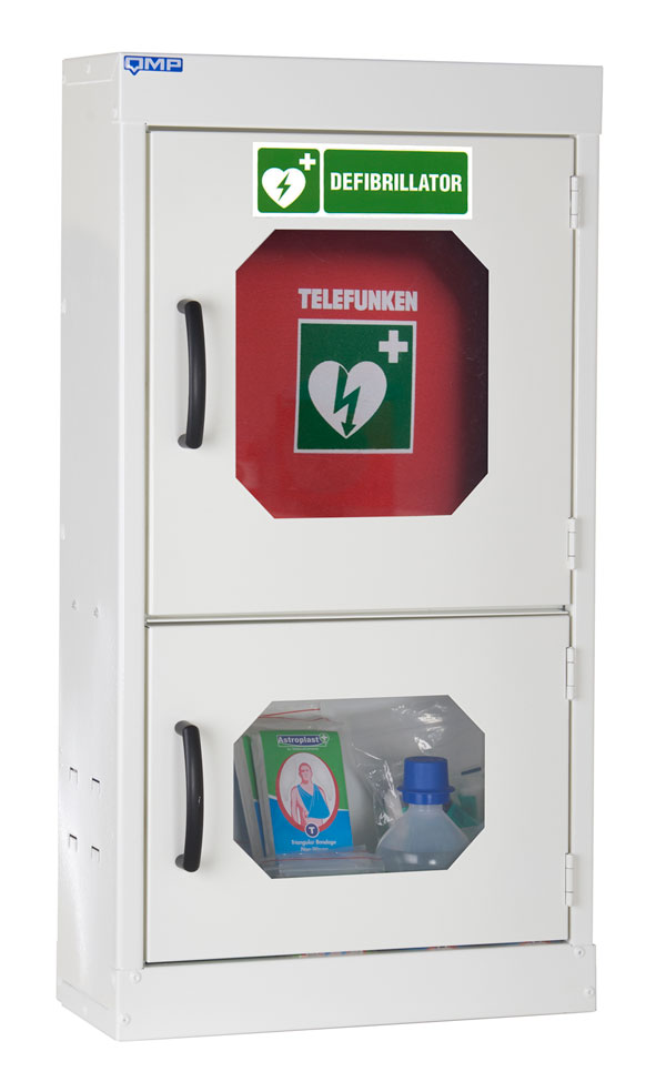 INDOOR DEFIBRILLATOR AND FIRST AID CABINET - CM1220