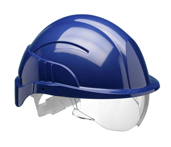 VISION PLUS SAFETY HELMET WITH INTEGRATED VISOR - CNS10PLUSEBA