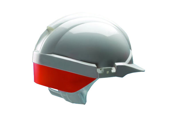 REFLEX SAFETY HELMET WHITE C/W ORANGE REAR FLASH - CNS12WHVOA