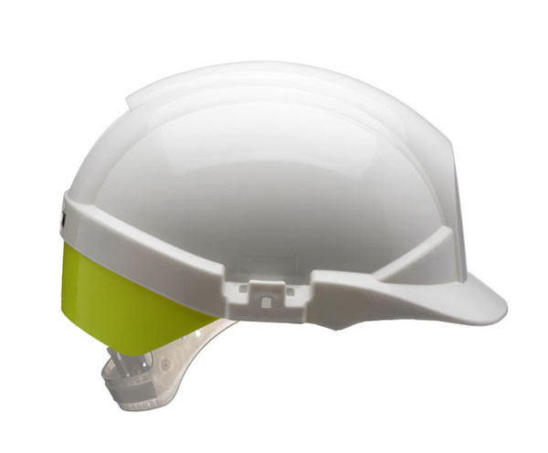 REFLEX SAFETY HELMET WHITE C/W YELLOW REAR FLASH - CNS12WHVYA