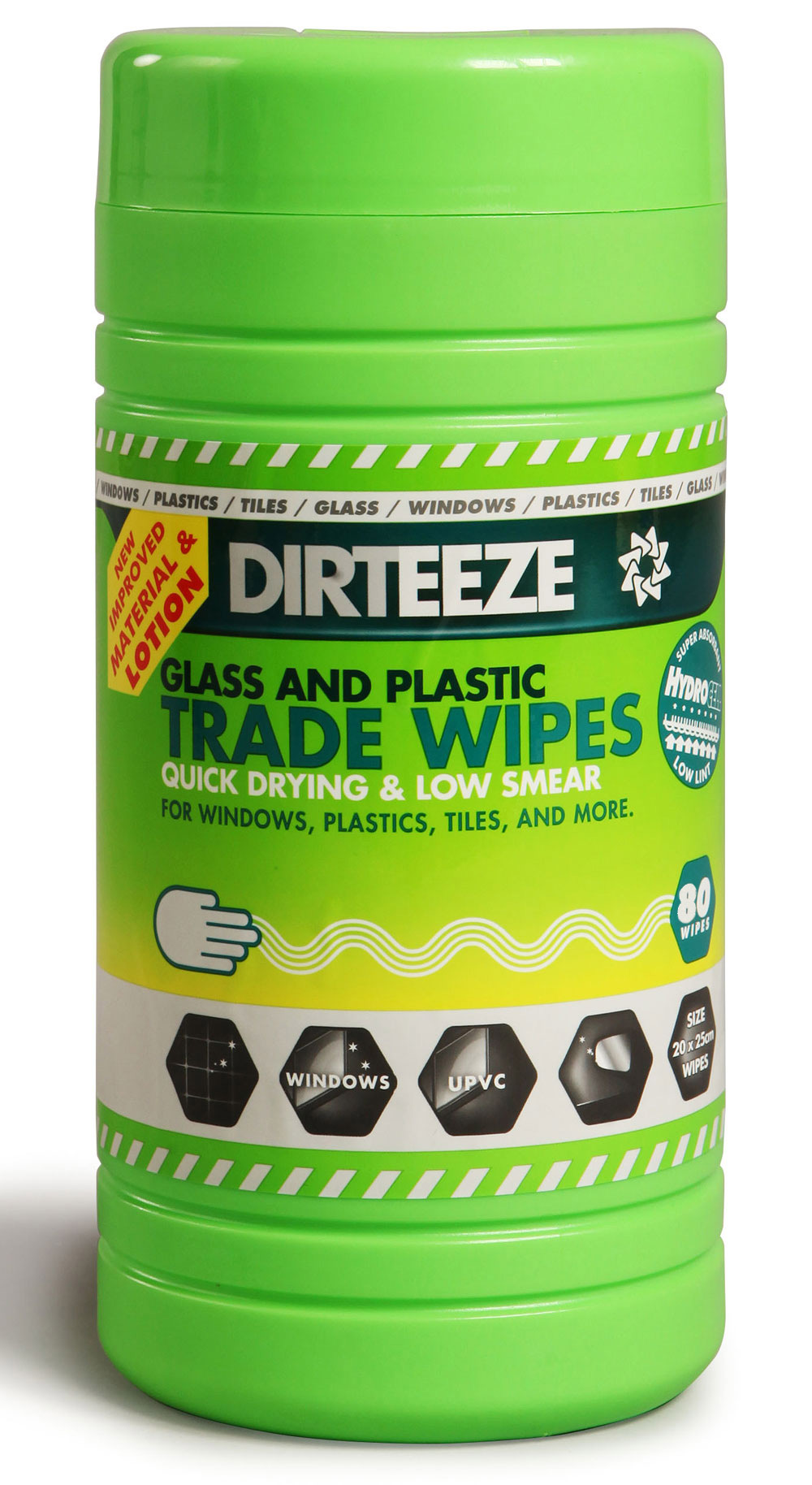 GLASS AND PLASTIC WIPES  - DZGP80