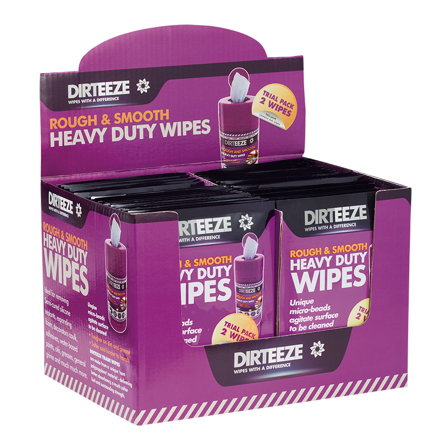 ROUGH AND SMOOTH WIPES (TWIN SACHET PACK 50 X 2) - DZRS2