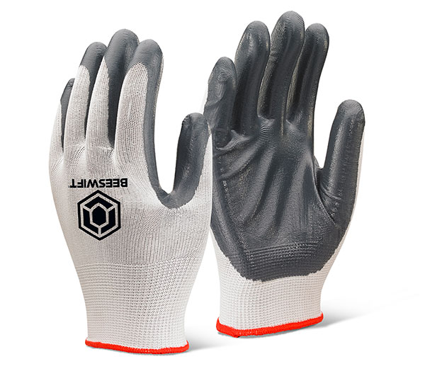 NITRILE PALM COATED POLYESTER GLOVES - EC7GY