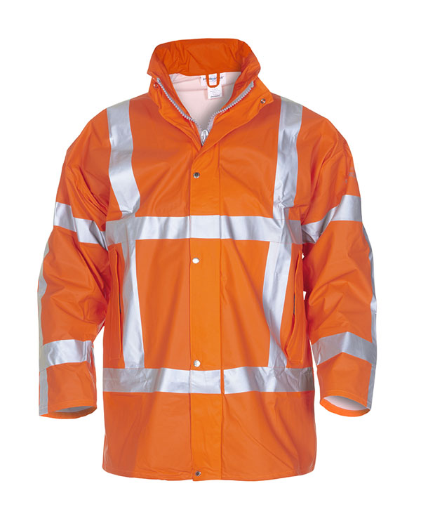 NEER MULTI HYDROSOFT FLAME RETARDANT ANTI-STATIC HIGH VISIBILITY WATERPROOF PARKA  - HYD065850OR