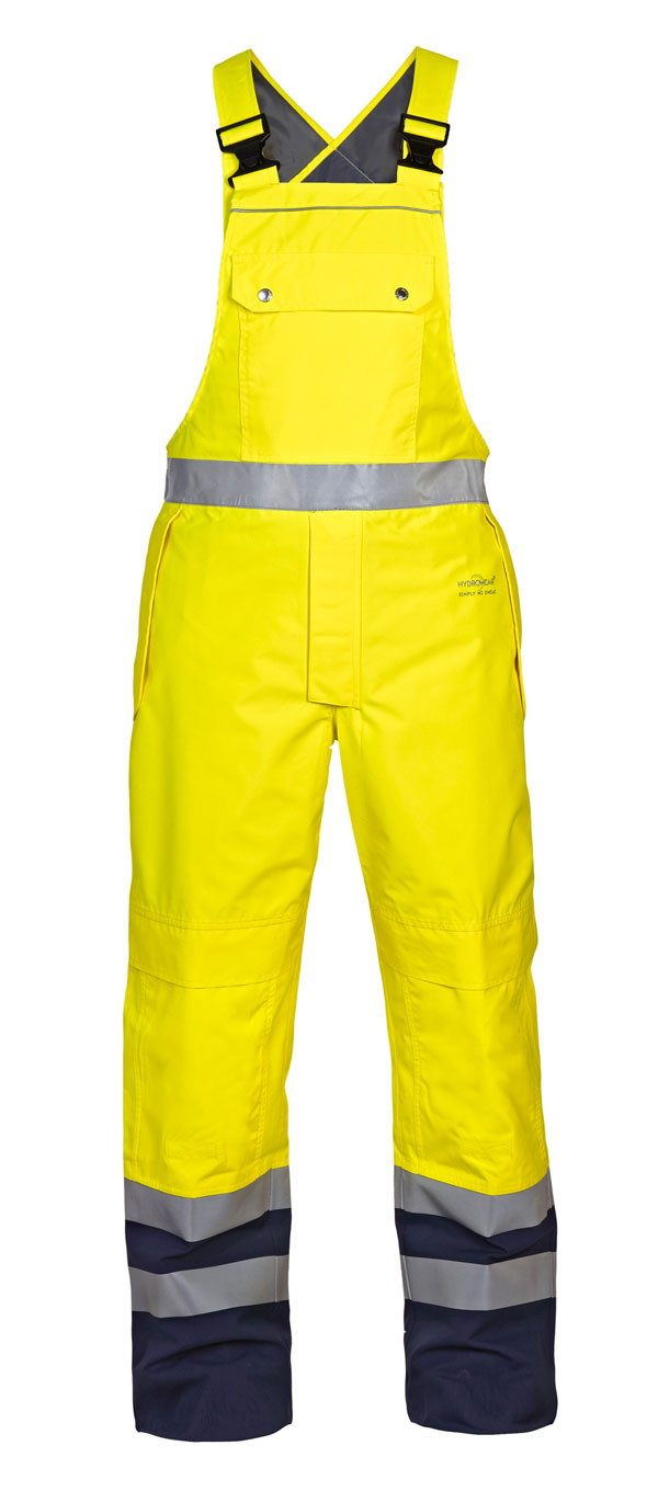 UTTING SNS HIGH VISIBILITY WATERPROOF BIB & BRACE - HYD072260SYN