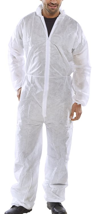 POLY PROP DISPOSABLE BOILERSUIT - PDBSHW