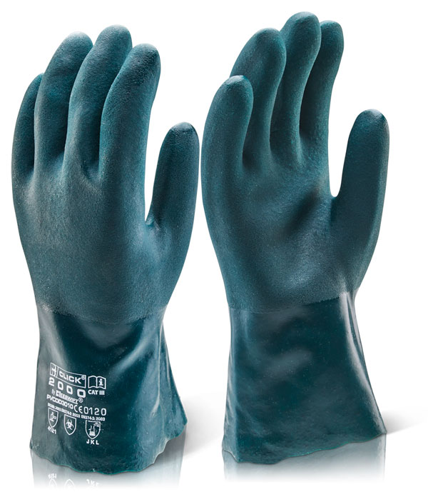 PVC DOUBLE DIP CHEMICAL GLOVE 30CM GAUNTLET - PVCDD30