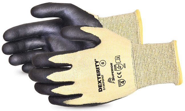DEXTERITY NITRILE PALM-COATED CUT-RESISTANT STRING-KNIT GLOVE - SUS13KFGFNT