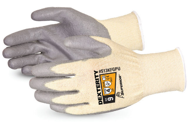 DEXTERITY PU PALM-COATED CUT-RESISTANT STRING-KNIT GLOVE - SUS13KFGPU