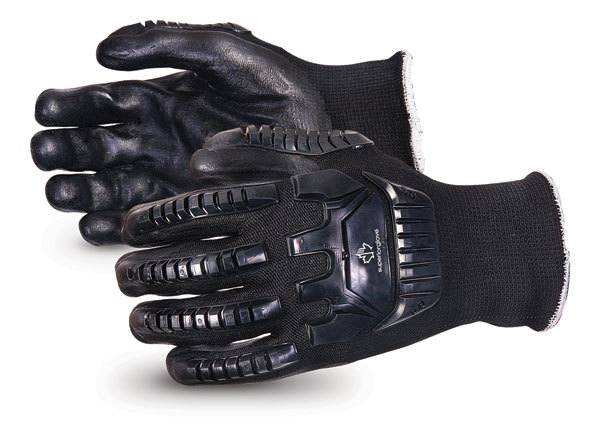 EMERALD CX IMPACT-RESISTANT NYLON/STAINLESS-STEEL CUT-RESISTANT STRING-KNIT GLOVE - SUSKBFNTVB